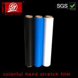 Film coloré d'enveloppe de palette de film d'enveloppe de rétrécissement de film de main de film d'extension