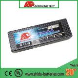 batterie dure de polymère de lithium de cas de 5000mAh 7.4V pour le véhicule de RC