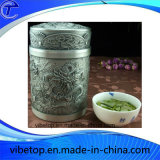 Cheap Price Tin Tea Caddy avec carving Crafts