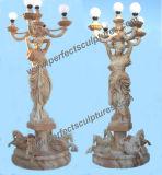 Standbeeld van de Lantaarn van de Steen van de tuin het Snijdende met Marmeren Beeldhouwwerk (sy-C1063)