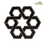 Polygon-dunkler Spiegel-Rahmen