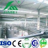 Производственная линия завода по обработке молока молокозавода