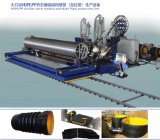 HDPEは螺線形の巻上げの管の生産機械の側面図を描いた