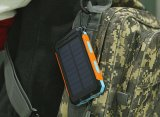 10000mAh Waterproof o banco rápido Dustproof da potência solar da carga para acampar com função do SOS