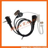 Écouteur acoustique de tube de surveillance par radio bi-directionnelle avec des PTTs