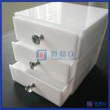 Gavetas acrílicas brancas feitas sob encomenda do organizador da composição da fábrica de China