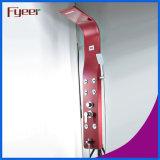 Panneau rose de douche d'acier inoxydable de précipitations de Fyeer avec l'étalage de la température
