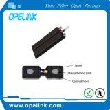 1 / 2core LSZH G657A2 óptica interior cable de bajada Cable de fibra con consolida miembro