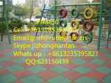 幼稚園の運動場のフロアーリングのExceciseのゴムマット