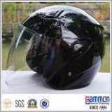 De zuivere Witte Open Helm van de Motorfiets van het Gezicht op Verkoop (OP202)