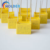 Металлизированный пленочный конденсатор коробки желтого цвета полипропилена (X2 0.22UF 275V)