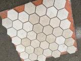 Crema Marfil Marmorhexagon-Mosaik-Fliese