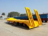 Cimc Merk 17.5m Semi Aanhangwagen van het Bed van 4 Assen de Lage