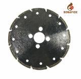 Hoja de sierra diamantada galvanizada con agujeros de enfriamiento