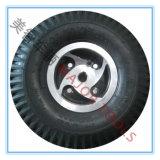 roue 260X85 en caoutchouc pneumatique avec le roulement de rainure de clavette pour choisi bariolé