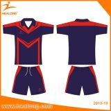 O material do Spandex de Healong Sublimated o jogo do desgaste das camisas de Jersey do futebol da impressão