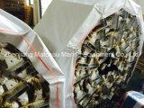 Escada de etapa de alumínio da corda do embarque com placas de borracha