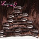 Grampo peruano natural do Virgin do preço de fábrica 100% em extensões do cabelo
