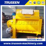 Tipo máquina de la correa de la fuente del chino del edificio del mezclador concreto del eje del gemelo