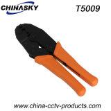 Инструмент руки Coax кабеля CCTV гофрируя для разъемов BNC (T5009)