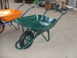 Carrinho de mão de roda verde Wb6400 da construção