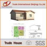 Casas residenciais claras da construção de aço