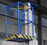 12mの移動式電気縦の空気マスト作業プラットホーム