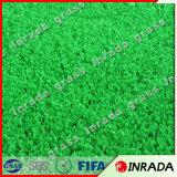 Naturaleza suave de 4 colores que mira la hierba artificial para la decoración del hogar y del jardín