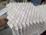 Crema Marfil大理石のBasketweaveのモザイク・タイル