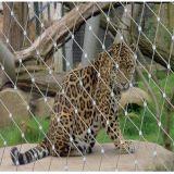 ヒョウの機構または塀またはケージの網