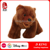 Brinquedos selvagens enchidos luxuoso do animal do urso de Brown