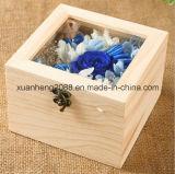 Caixa de presentes de madeira para o indicador