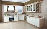 Armadio da cucina moderno poco costoso del portello del PVC per l'alta qualità (zc-073)
