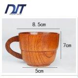 Taza de madera natural de la alta calidad con la maneta