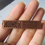 Pollice del USB di Pendrives del bastone di memoria del USB intagliato segnalibro del disco istantaneo del disco istantaneo del USB della scheda di memoria del bastone del USB delle griglie della Cina del metallo di marchio dell'OEM dell'azionamento dell'istantaneo del USB