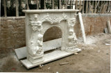 Белый камин Sy-Mf316 Carrara античный мраморный
