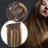 Hair Extensions Human HairのHuman Hair Extensions Peruvian Straight Hair 10PCS/Set Natural Black Clipの美Forever Clip
