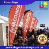 Таможня рекламируя флаги ребра пляжа для напольного промотирования