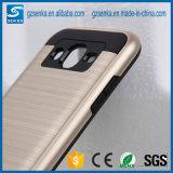Caja del teléfono móvil del satén del cepillo para la contraportada a prueba de choques de la galaxia J5 de Samsung