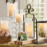 Vela LED sin perfume en vasija de vidrio