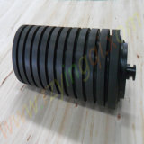 Förderwerk Impact Roller mit Moulded Cooked oder mit Impact Rubber Disc Roller Idler Roll Rubber Rings Weigh Idler Roll Roller für Mine Port Bandförderer