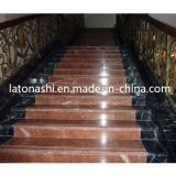 IndoorのためのデザインPrefab Natural Marble Stone Straight Step Stairs