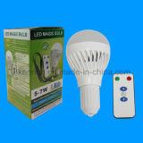 ampoule rechargeable de 7W E27 DEL DEL avec le contrôleur éloigné