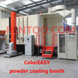 Color veloce Change Powder Booth con Big Cyclone Recovery System