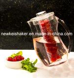 2.5L congelou o jarro da infusão da fruta com a câmara de ar de núcleo do gelo