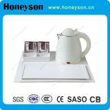 Чайник поставкы гостиницы электрический с радушным подносом для пользы Guestroom