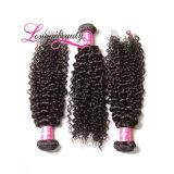 工場直接価格の安いインドのRemyの毛の巻き毛の織り方