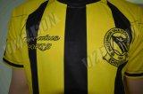 Voetbal Jersey van de Koker van de Sportkleding van de Polyester van 100% Man Lange