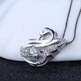 Collana Pendant a forma di dello Swan- sveglio dell'argento sterlina delle donne 925