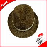Sombrero de papel de la mujer del sombrero de ala de la paja